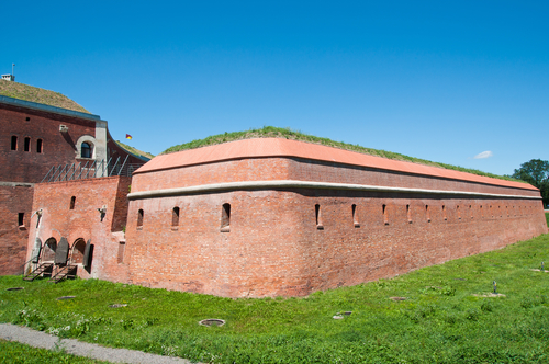 Old military system of fortification in Zamosc city