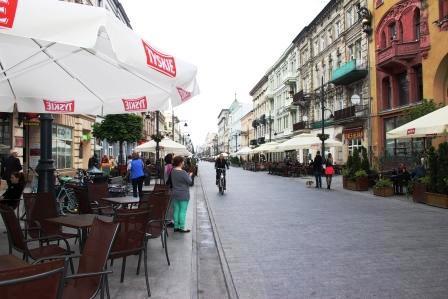Piotrkowska Street в Лодзи
