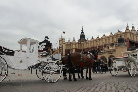 прогулка в карете по Кракову
